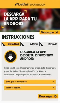 App Betfair para Android