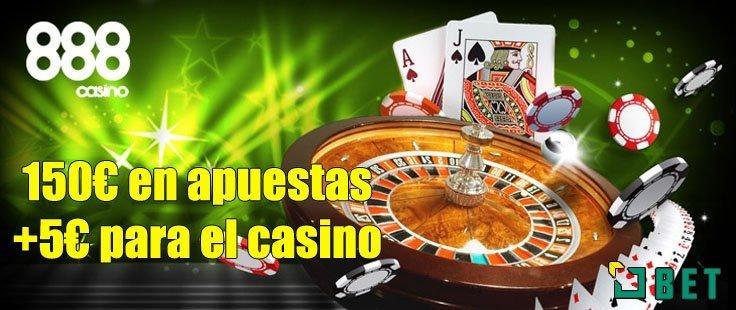 5€ gratis para jugar al casino de 888
