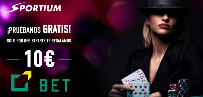 bono sin depósito Sportium Casino, 10€ gratis