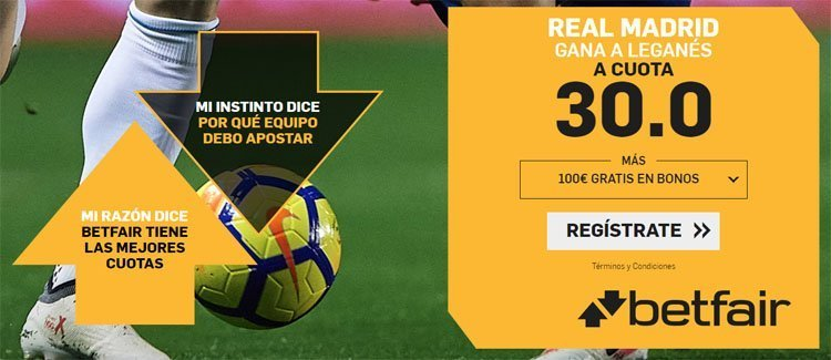 betfair supercuota real madrid leganes
