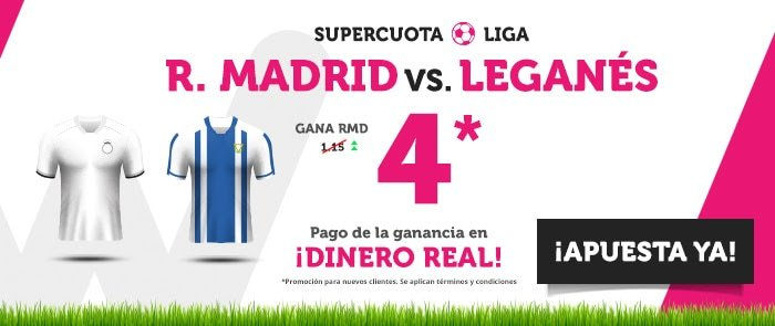 wanabet supercuota real madrid leganés