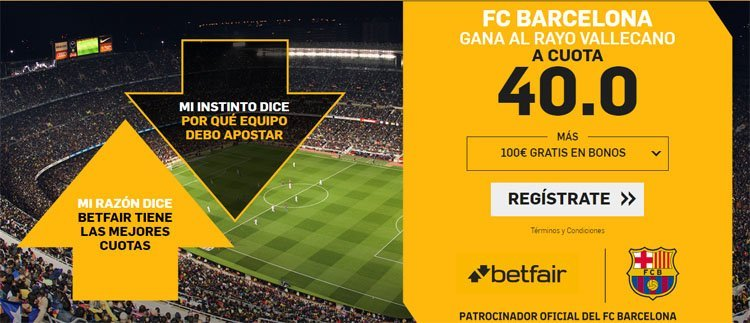 betfair supercuota Barcelona vs Rayo Vallecano