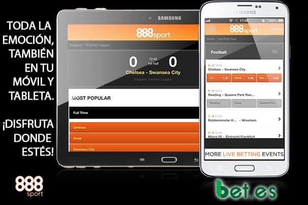 Con la app de 888Sport es más fácil apostar desde la comodidad de cualquier lugar.