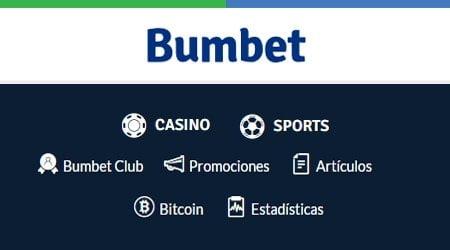 Bumbet te ofrece una enorme cantidad variada de opciones para jugar, apostar y ganar.