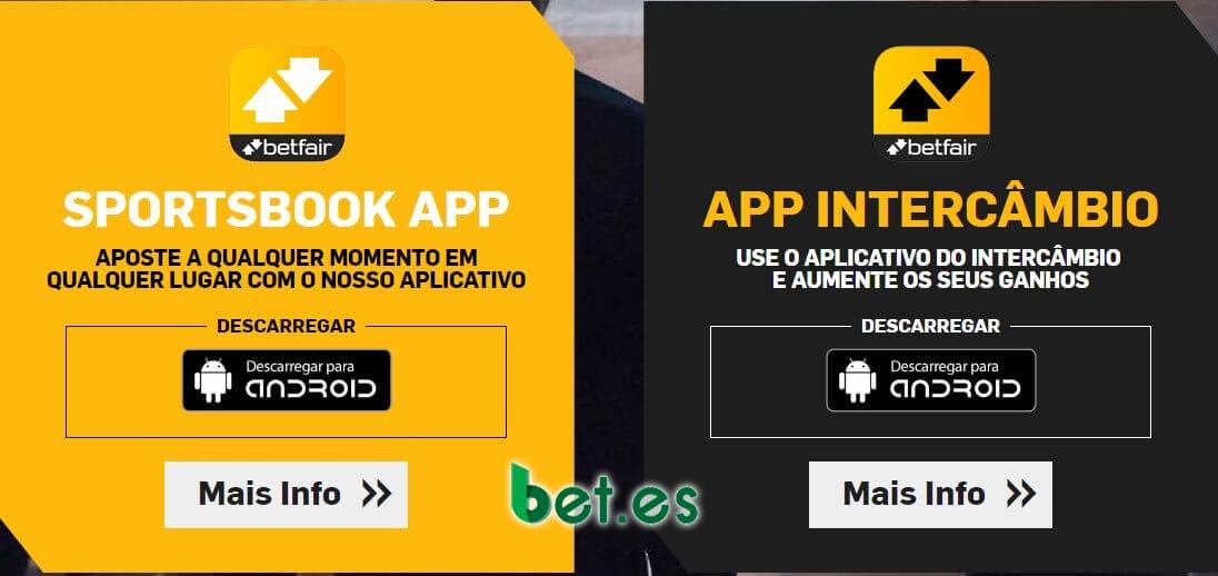 Com o aplicativo Betfair, você pode apostar em qualquer lugar.