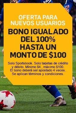 Un bono igualado del 100% para nuevos usuarios, hasta 100€.