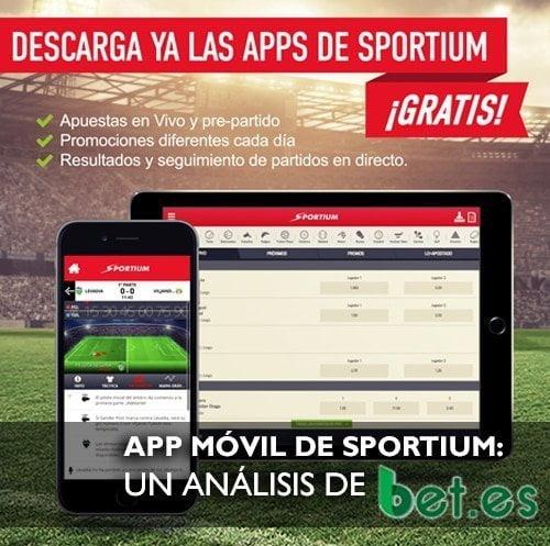 Con la app de Sportium puedes apostar seguro.