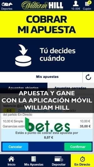 Apostar nunca fue tan fácil y sencillo; con la app de William Hill apuestas seguro.
