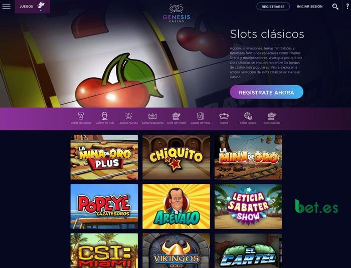 Análisis de Slots en Genesis Casino