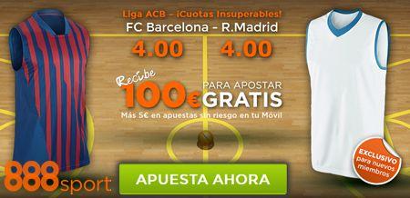Promoción 888sport cuotas mejoradas: FCB - Real Madrid