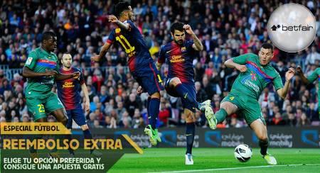Ver online Barcelona vs Levante en directo y apuesta en Betfair con reembolso extra (15 febrero, Liga BBVA)