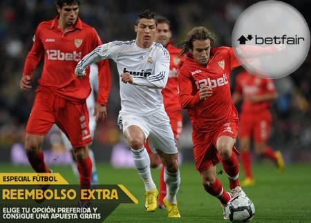 Ver partido Real Madrid vs Sevilla y apostar en Betfair con reembolso extra (Liga BBVA, 4 febrero)