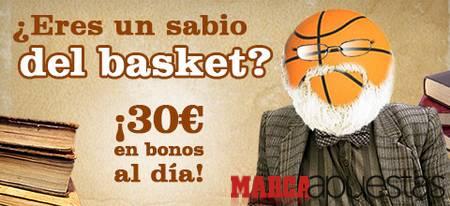 Marca Apuestas: sabios del Basket 30€ al día