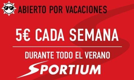 Sportium: 5 euros gratis cada semana que hagas una apuesta combinada